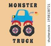 vector illustration of monster... | Shutterstock .eps vector #1938138721