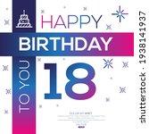 creative happy birthday to you... | Shutterstock .eps vector #1938141937