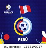 peru wave flag on pole and... | Shutterstock .eps vector #1938190717