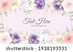 beautiful hand drawn floral... | Shutterstock .eps vector #1938193531