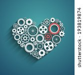 heart with gears background | Shutterstock . vector #193819874