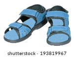 mens sandals blue isolated... | Shutterstock . vector #193819967