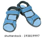mens sandals blue isolated... | Shutterstock . vector #193819997