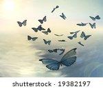 Majestic Butterflies Flying...
