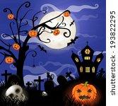 halloween cards  | Shutterstock . vector #193822295