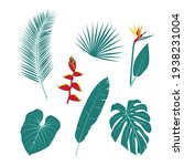 a set of unusual tropical... | Shutterstock .eps vector #1938231004