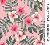Seamless Floral Pattern Pink...