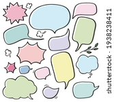 collection of pastel speech... | Shutterstock .eps vector #1938238411