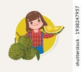 agriculturist cute woman... | Shutterstock .eps vector #1938247957