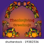 thanksgiving greetings with... | Shutterstock .eps vector #19382536