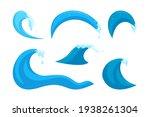 Ocean Wave Elements. Surfing...