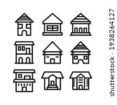 lodging icon or logo isolated...   Shutterstock .eps vector #1938264127