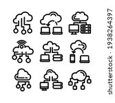 cloud network icon or logo... | Shutterstock .eps vector #1938264397