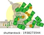 us congress and capitol dome in ...   Shutterstock .eps vector #1938273544