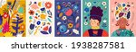 beautiful bright spring...   Shutterstock .eps vector #1938287581