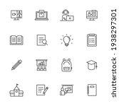 education icons set. flat... | Shutterstock .eps vector #1938297301