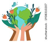 people caring for nature and... | Shutterstock .eps vector #1938310207