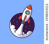 rocket launching cartoon vector ...   Shutterstock .eps vector #1938315211