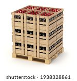 Wine Wooden Crates With Bottles ...