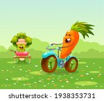 funny fruits and vegetables... | Shutterstock .eps vector #1938353731