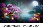 Fantasy Mushrooms With Lanterns ...