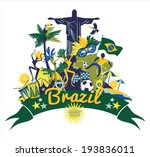 brazil background | Shutterstock .eps vector #193836011