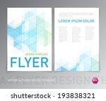 abstract vector modern flyer