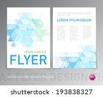 abstract vector modern flyer  ... | Shutterstock .eps vector #193838327
