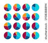infographic pie graph set....