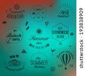 summer holidays design elements ... | Shutterstock .eps vector #193838909
