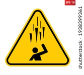 caution falling ice spikes sign.... | Shutterstock .eps vector #1938399361