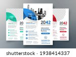 corporate flyer design template ... | Shutterstock .eps vector #1938414337