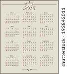 vintage calendar 2015  week... | Shutterstock .eps vector #193842011
