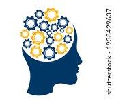 technology human head logo icon ...   Shutterstock .eps vector #1938429637