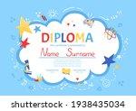 colorful school and preschool... | Shutterstock .eps vector #1938435034