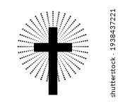 Christian Cross With Abstract...