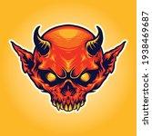 head horn red devil mascot... | Shutterstock .eps vector #1938469687