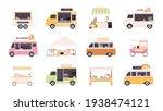 street kiosks. fast food trucks ... | Shutterstock .eps vector #1938474121