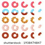eaten donut. bitten chocolate... | Shutterstock .eps vector #1938474847
