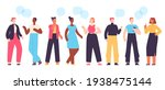 people communicate. diverse...   Shutterstock .eps vector #1938475144