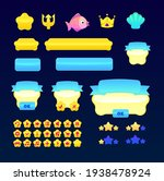 sea pink yellow blue  gui set...