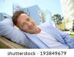 handsome 40 year old man... | Shutterstock . vector #193849679