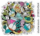 science cartoon vector doodle... | Shutterstock .eps vector #1938514564