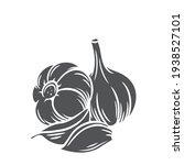garlic glyph icon  vector cut...   Shutterstock .eps vector #1938527101