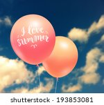 colorful balloons on blue sky...   Shutterstock .eps vector #193853081