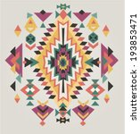 aztec ethnic print background | Shutterstock .eps vector #193853471