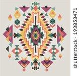 aztec ethnic print background | Shutterstock .eps vector #193853471