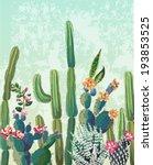 cute succulents cactus vector... | Shutterstock .eps vector #193853525