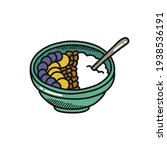 smoothie bowl doodle icon ...   Shutterstock .eps vector #1938536191