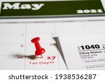 Calendar With Tax Day Note...